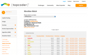 TopCoder: dancing in the moonlight?