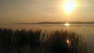 Lake Balaton in the summer.