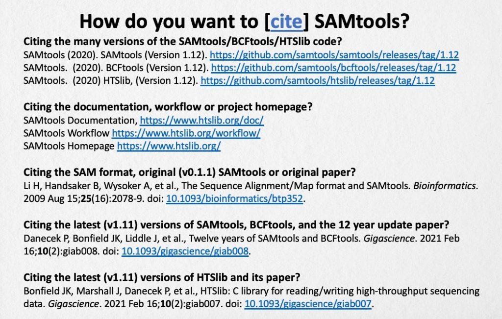Software Citation examples