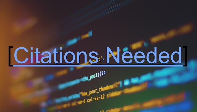 software citation needed